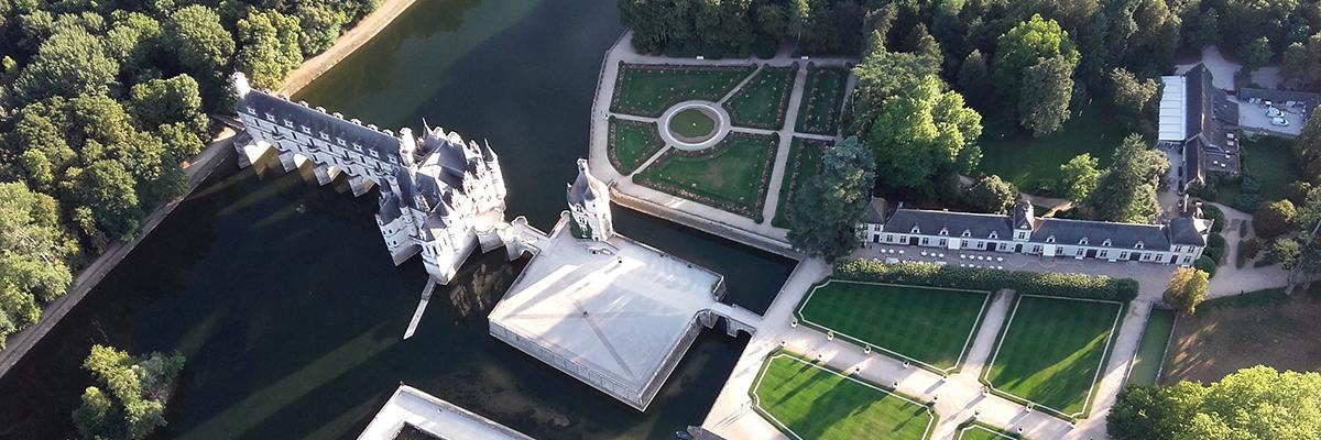 Montgolfière sur les bords de la Loire